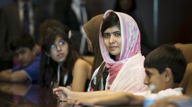 Malala Yousafzai, blev skudt i hovedet af Taleban i Pakistan, men overlevede. I sidste uge talte hun til fordel for alle børns ret til uddannelse i FN i New York.