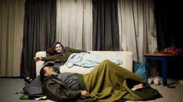 Hjemløse udlændinge på et herberg på Nørrebro i 2010 – uden forbindelse til de omtalte i kronikken.