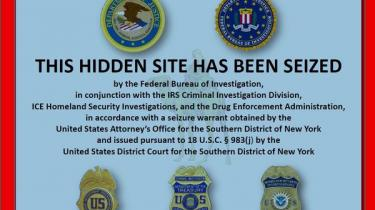 Brugere af portalen Silk Road mødes af denne besked om at myndighederne har beslaglagt sitet