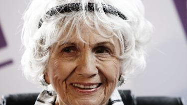 82-årige Alice Munro fik i går Nobelprisen i Litteratur. Selve prisen overrækkes 10. december – på Alfred Nobels dødsdag – i Stockholm. Med æren og en medalje følger også en check på otte millioner svenske kroner. Arkiv