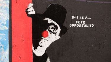 Foto: Wolfgang Stein   Værk af Mimi the Clown