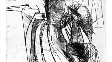 Per Kirkebys 'Grønlands-tekster' indeholder udover tekst også træsnit og raderinger af kunstneren.   Illustration: Per Kirkeby/Tiderne Skifter
