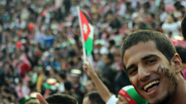 Palæstinensere. Mellemøst-konflikten er synlig i jordansk fodbold. Palæstinensiske flygtninge og oprindelige jordanere har hver deres hold. Men landsholdet har spillere fra begge befolkningsgrupper. Foto: Scanpix