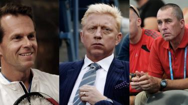 Rivaler. I 1989 indtog de verdensranglistens tre øverste pladser. De udkæmpede den ene mere nervepirrende dyst efter den anden og vandt til sammen 20 grand slam-titler. Nu er – fra venstre – Stefan Edberg, Boris Becker og Ivan Lendl tilbage i det omrejsende tenniscirkus som trænere, eller rettere mentorer, for tre af tidens absolutte topspillere, henholdsvis Roger Federer, Novak Djokovic og Andy Murray, der på mandag kæmper om at vinde årets første grand slam-titel, Australian Open, i Melbourne. Fotos: Scanpix