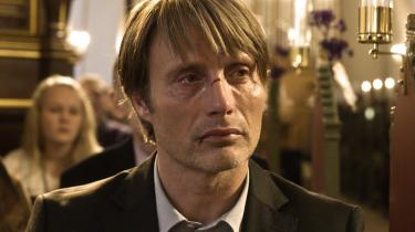 Mads Mikkelsen spiller hovedrollen i Thomas Vinterbergs Oscar-nominerede film 'Jagten'.