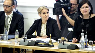 Statsminister Helle Thorning-Schmidt ved eftermiddagens samråd. Foto: Keld Navntoft