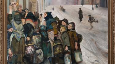 I værker som 'Kampen for tilværelsen' blev Christian Krohgs sociale indignation næsten overtydelig. Han formåede dog at sætte et afgørende aftryk i 1880'ernes nordiske sædelighedsfejde gennem sine malerier af blandt andet prostitueredes forhold. Maleri: Gl. Strand / Dag Fosse