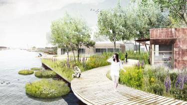 Projektet De Ceuvel i det nordlige Amsterdam, hvor et gammelt forurenet industriområde ved vandet skal forvandles til et grønt kvarter for kreative og sociale virksomheder med lukkede næringsstof- og vandkredsløb, vedvarende energi, egen produktion af grøntsager, genanvendelse af byggematerialer m.m.