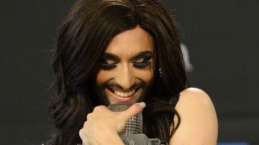 Den 25-årige Conchita Wurst, kendt som den skæggede dame, vinder det internationale melodi grand prix