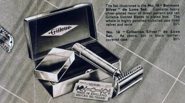 Patent. Gillettes patent på barberskrabere med udskiftelige blade grundlagde et af den moderne verdens helt store forretningsimperier.