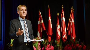 »Min opfordring skal være: Glem de fine fornemmelser, lad os sammen finde de redskaber, der dur imod social dumping,« sagde Dansk Folkepartis formand Kristian Thulesen Dahl i sin landsmødetale sidste år.