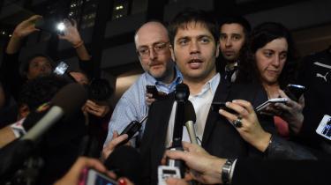 Argentinas økonomiminister, Axel Kicillof, efter forhandlinger i New York.