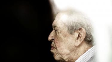 Erik Ninn-Hansen er her fotograferet kort efter sin 90-års fødselsdag i 2012