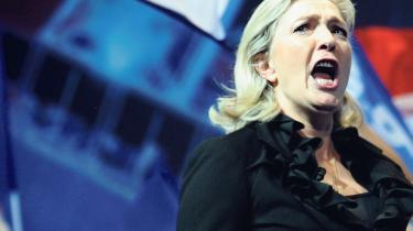 De sidste meningsmålinger viser Marine Le Pen som vinder af et præsidentvalg, hvis modstanderen er præsident François Hollande.