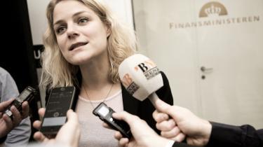 Johanne Schmidt Nielsen, Enhedslistens politiske ordfører, måtte sidste år gå fra forhandlingerne i Finansministeriet efter blot en times tid – og hun var vred.