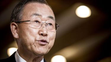 »Min holdning som generalsekretær er, at alle diplomatiske forhandlinger og konferencer skal være beskyttet af fortrolighed. Det er et urokkeligt princip,« siger FN's generalsekretær Ban Ki-moon, som svar på Informations afdækning af britisk klimaspionage.
