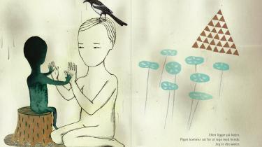 'Skifting' er en foruroligende historie om en pige på elleve år, der er ved at forlade sin velkendte verden og bevæge sig ud i det ukendte.Illustration: Anna Margrethe Kjærsgaard/fra bogen