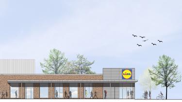 Lidls nye supermarked skal energimæssigt være 100 procent bæredygtigt