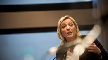 Front Nationals leder, Marie le Pen, præsenterede for nylig den 'økonationalistiske' gruppe, som har en 'patriotisk' platform, der lægger op til både fransk modstand mod de internationale klimaforhandlinger og støtte til Frankrigs atomindustri.