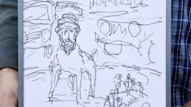 Kunstner og kunstprofessor Lars Vilks var lørdag på deltagerlisten ved arrangementet på Østerbro. Vilks tegnede i 2007 profeten Muhammed som hund, og han har siden levet under politibeskyttelse.