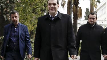 Premierminister Alexis Tsipras agter tilsyneladende ikke at gå på kompromis med sine løfter til det græske folk.