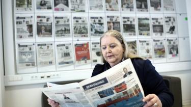 'Vi beskytter vores journalister, hvis de føler utryghed ved, at deres navn og billede står på bestemte kontroversielle historier,' siger Lisbeth Knudsen.