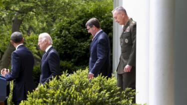 Joseph Dunford (t.h.) blev den 5. maj præsenteret som USA's kommende militære rådgiver.