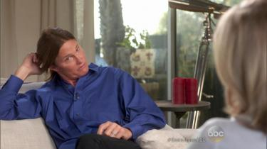 Bruce Jenner under det meget omtalte interview med Diane Sawyer.