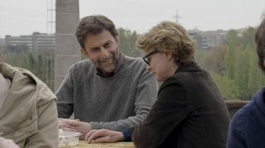 Nanni Moretti og Margherita Buy som bror og søster i Morettis selvransagende drama, 'Mia madre'. Foto: Filmfestivalen i Cannes