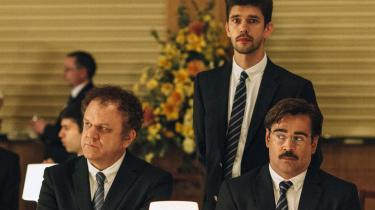 John C. Reilly, Ben Wishaw og Colin Farrell i Yorgos Lanthimos' sorte satire, 'The Lobster'. Foto: Filmfestivalen i Cannes