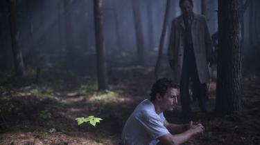 Matthew McConaughey og Ken Watanabe i den mærkelige japanske skov i Gus Van Sants spirituelle 'The Sea of Trees'. Foto: Filmfestivalen i Cannes
