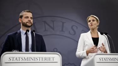 Helle Thorning og Morten Østergaard præsenterede deres velfærdsudspil den 21. maj.