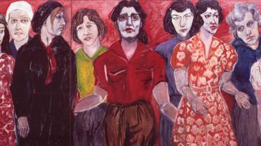 Ursula Reuter Christiansens værk 'Kvinder Frem!' (1971) er med i det digitale tidsskrift 'LIGE', der er idérigt, men også diffust.   Maleri: Fra bogen