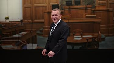 Venstreformand Lars Løkke Rasmussen forud for søndagens duel med statsminister Helle Thorning Schmidt