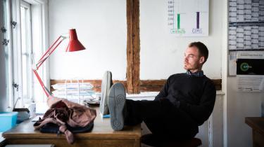 'Jeg tror, der er et paradigmeskifte på vej. Flere og flere begynder at interessere sig for, hvordan vi får brudt muren ned mellem økonomer og resten af samfundet,' siger Rasmus Hougaard Nielsen.