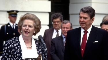 Storbritanniens Margaret Thatcher og USA's Ronald Reagan var for alvor eksponenter for det brud med efterkrigstidens sociale kontrakt, som har skærpet konflikten mellem markedet og demokratiet.