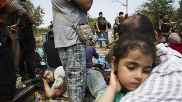 Asylansøgere samles i stort tal ved grænsen mellem Grækenland og Makedonien. Det makedonske politi lukker kun få igennem grænseovergangen og de fleste må vente flere dage for at komme igennem.
