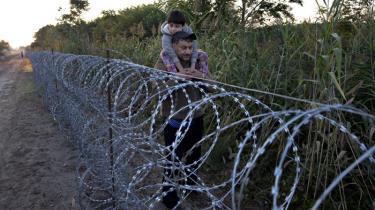 Endnu er Ungarns meget omtalte fire meter høje hegn med pigtråd på toppen ikke færdigt hele vejen langs den 175 kilometer lange grænse til Serbien, men det bliver det snart.