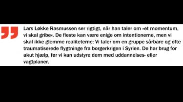 Gid Lars Løkke Rasmussen må lykkes med sit projekt!