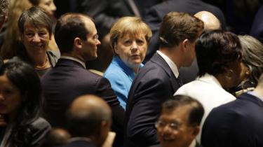 Hvis FN's bæredygtige udviklingsmål skal nås, må erhvervslivet inddrages. Det slog Tysklands kansler Angela Merkel fast under weekendens topmøde. 'Private investeringer er afgørende for, at vi kan udvikle vores stater,' sagde hun.