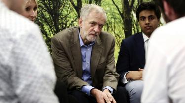 I sin timelange jomfrutale som formand for Labour-partiet nævnte Jeremy Corbyn kun debatten om medlemskabet af EU en eneste gang.