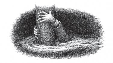 Illustration fra Jakob Wegelius' roman