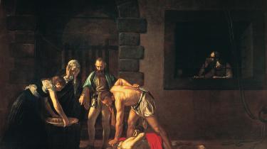 Caravaggios' Johannes Døberens Henrettelse fra 1608 har stor indflydelse på handlingen i Louis Jensens 'Stjernebilleder'.