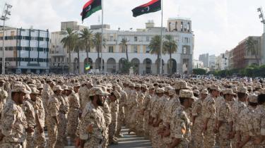 Den libyske hær til parade i Tripoli.