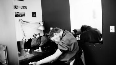 En narkoman i fixerummet Skyen på Istedgade. Danmark er blandt de lande i Europa, hvor der dør flest narkomaner pr. indbygger.