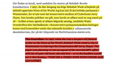 Udpluk af Weekendavisens dokumentation. Den samlede dokumentation kan ses nedenfor