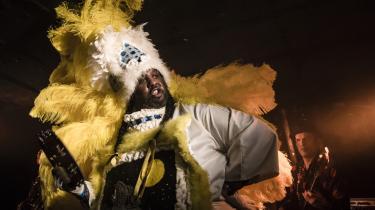 Dette års New Orleans New Year Jazz Event i Stengade bød bl.a. på Gerald French fra Wild Magnolias.