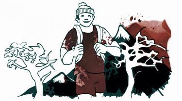 Det er en uskreven regel i trekking, at man ikke efterlader sig spor, men ellers er der ikke mange kulturelle normer for de lange fodrejser i naturen  Af Jakob Jørgensen Vestergaard / illustrationer: Johanne Sorgenfri/iBureauet