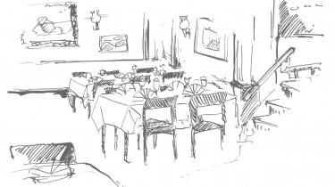 Der er stadig smukt som et stjerneskud på Restaurant Vita i Store Kongensgade. Officerer så vi ingen af, men til gengæld tegnede der sig et anstrøg af noget litterært