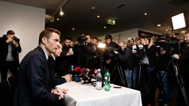 Bestyrelsesformand og de facto ejer af Brøndby IF, Jan Bech Andersen, beklager onsdag over for pressen sin brug af aliasset 'Oscar'.
